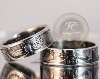 Walking Liberty Coin Rings