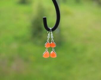 earrings of chalcedony, serenity