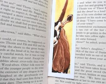 Oryx (Antelope) Bookmark - 39 x 148 mm - Animal Bookmark