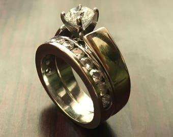 Round Brilliant Diamond and Wedding Ring