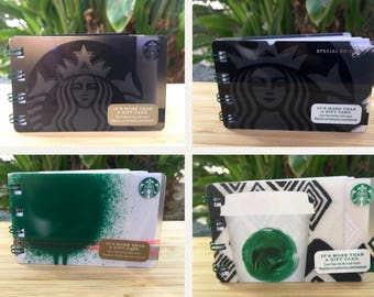 Starbucks Upcycled Gift Card Notebook- Mini Notepad