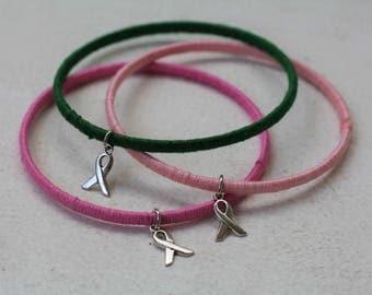 Cancer Awareness Bracelet Bangle