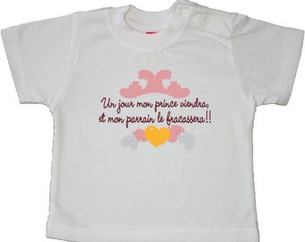 "t-shirt kids message humor ""someday my prince will come and my sponsor fracassera"""
