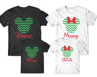 Personalized christmas disney shirts, disney christmas shirts, christmas matching shirts, disney christmas , disney christmas family shirts