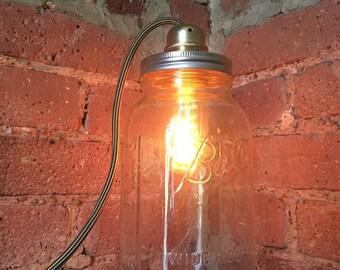 Mason Jar Lamp Light Modern Homemade