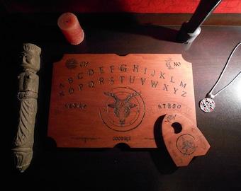 A divine woodcut ouija board ouija board