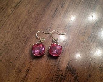 Hand made one of a kind pink earrings