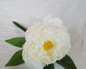 Marshmallow White Peony Pen