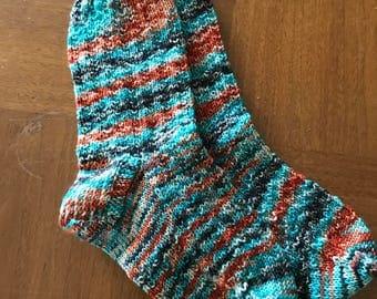 Hand knit womens socks