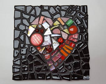 heart mosaic tile
