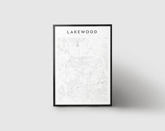 Lakewood Map Print