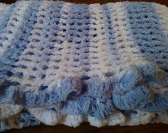 Thick Blue Baby Blanket