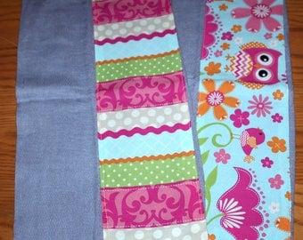 Home made burp cloth (Set of 2)