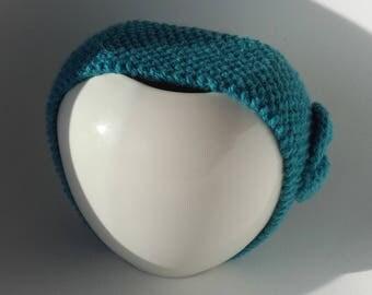 Headband hand knitted wool