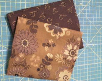 coupon 2 coordinating Brown cotton 45 x 55 cm