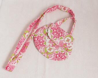 Pink/green shoulder bag