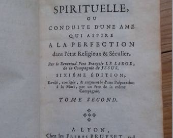 Antique Christian religious book of 1748
