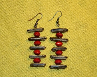 "Earrings tribal ""blazing Church"""