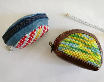 Embroidered coin purses