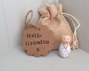 Peg doll baby pregnancy announcement
