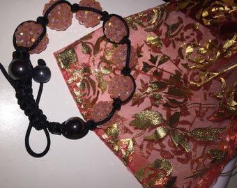 Lovely shamballa inspired pink mauve bracelet