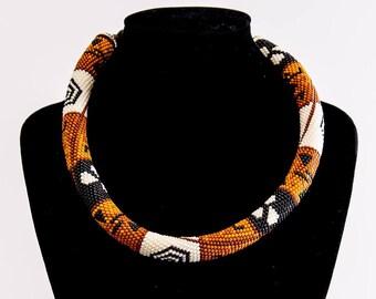 Necklace spiral pattern African