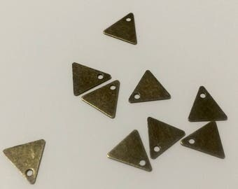 20 mini 8mm triangle sequin bronze for jewelry making