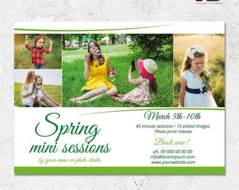 Spring Mini Sessions Design Template for Photographers, Mini Session Template, Photography Marketing Template, Spring Template, Easter Minis