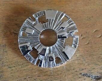 Modernist Mid Century Brooch Pin Sunburst