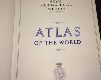 Atlas The Royal Geographic Society SPECIAL EDITION Atlas of the World