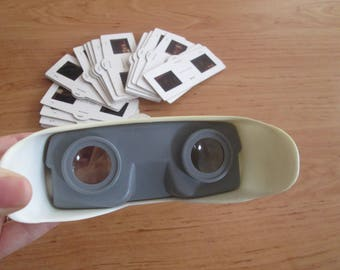 Old Stereoscope, Soviet film viewer, 3D photo viewer, Vintage Stereoscope 3, Portable viewer, Slide viewer, Soviet toy, Portable filmoskop