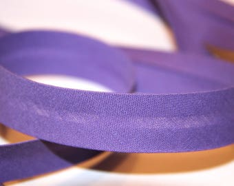 18MM PURPLE POLYCOTTON BIAS