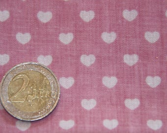 coupon 50 X 50 cm patchwork fabric / pink heart