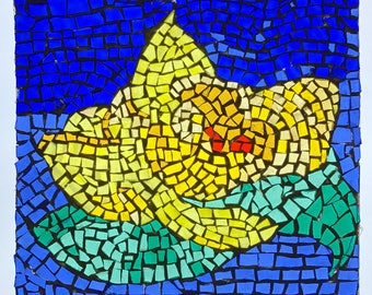 Mosaic   Transparent on Acrylic Plexiglas