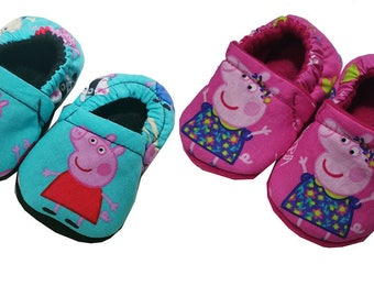 New Peppa Pig George Baby Girls Boys Handmade Booties Slippers Crib Shoes 2-12c 0-24M 3T-5T