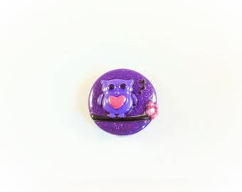 Cameo 25mm purple and pink OWL