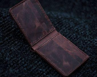 Leather Bifold Wallet: Handmade in Canada