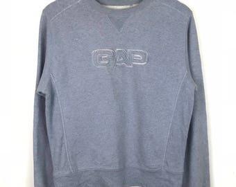 Rare!!! GAP Sweatshirt Pullover Spellout Big Logo Spellout Embroidery Jumper