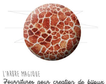 Cabochon 25 mm giraffe animal fantasy animal wild ref 1572
