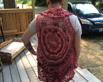 Crocheted Circle Vest