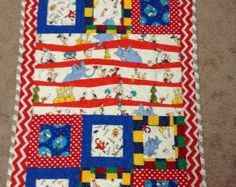 Dr. Seuss baby crib quilt