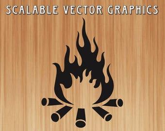 campfire svg, camping svg, camp fire svg, summer svg, bonfire svg, fire svg, camp fire svg, vector file, campfire graphic, shirt design