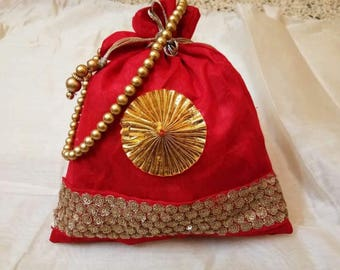 Traditional Indian Potli Bag Wedding Return Gift Diwali