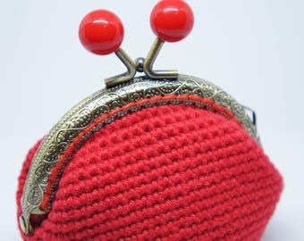 Crochet Coin Purse (Red)