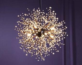 Antique Gold Vintage Chandelier Fireworks Lamp