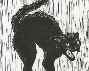 Scared Cat Printed on Rice Paper