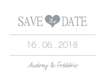 Save The Date heart