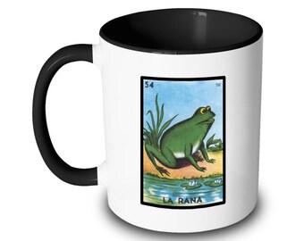 La Rana Mug Frog Loteria Card Mexican Bingo