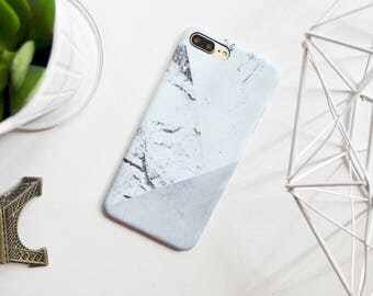 Marble matte hard iPhone 7 Plus Case // 7 7 plus 6 6s iPhone cases // geometric holographic sparkle cases matte texture case iPhone cover