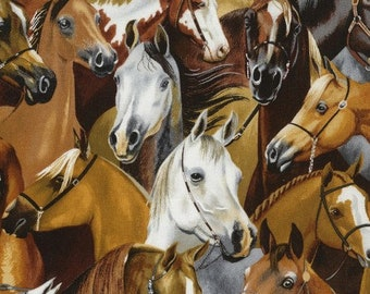 Levison Designs for Timeless Treasures, Horses, Ruth-C5486,  1/2 yard